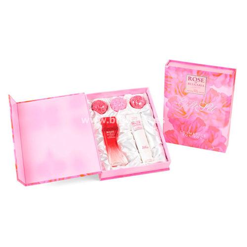 Lote-Regalo-Rosa-Señora-Perfume-50-ml-3-Jabones-Glicerina-30-gr-Crema-de-Manos-75-ml-Tipo-Libro