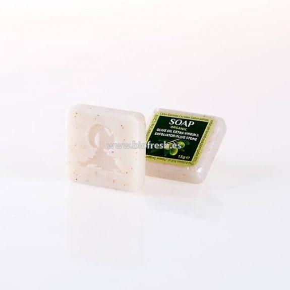 Jabón cuadrado envoltorio transparente 15gr