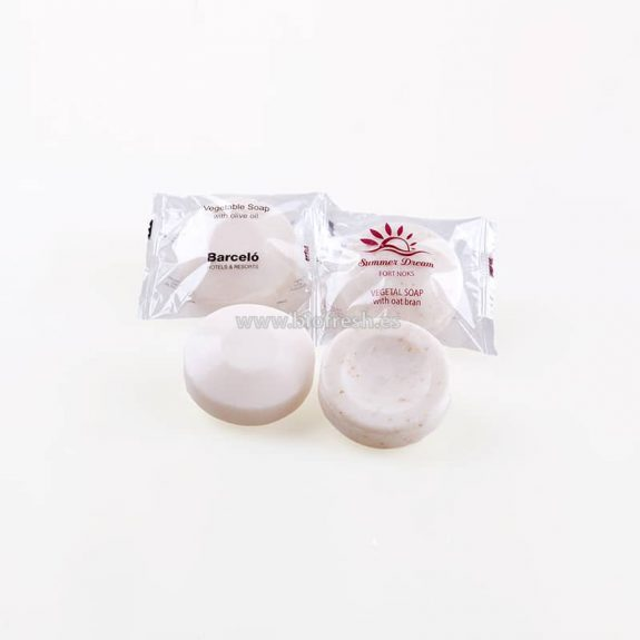 Jabón redondo con bolsita individual 40 gr