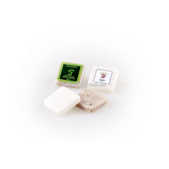 Jabón cuadrado con envase transparente 15 gr