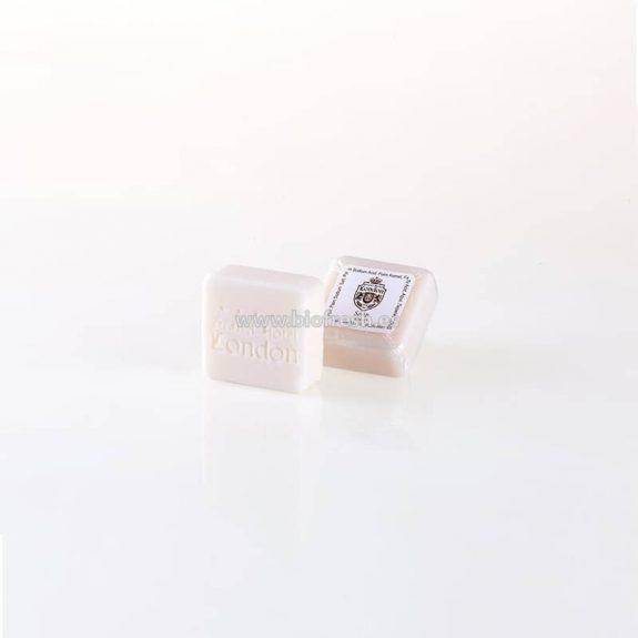 Jabón cuadrado con envase transparente 25 gr
